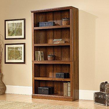 sauder-select-5-shelf-bookcase-in-washington-cherry-finish