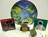 Wall-e 6 Piece Birthday Cake Topper Set Featuring Wall-E Decorative Squares, World Earth, Walle Box, 2