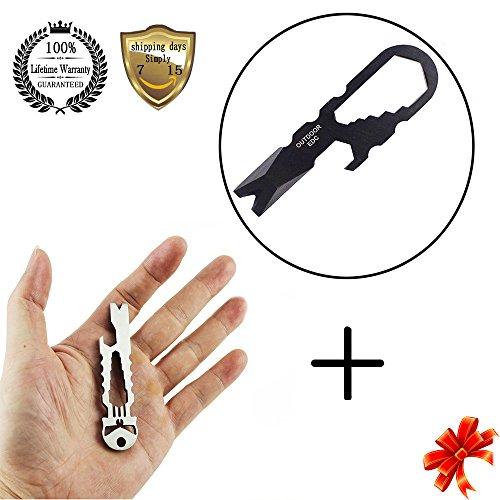 Meanhoo Mini tool Outdoor Stainless Steel Pocket survival tool & Multi-function Outdoor Stainless Skull Survival Pocket Tool Beer Key Ring