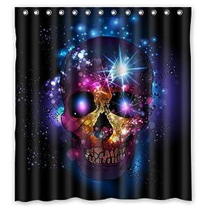 sparkle skull waterproof bathroom polyester