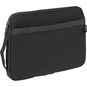 Solo Sterling Collection iPad or e-Reader or Netbook Sleeve, Holds Tablet up to 10.2 Inch Netbook, Black CLA110-4