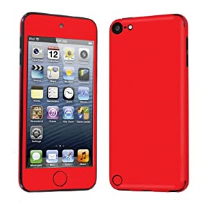 Apple iPod Touch 5 ( 5th Generation ) Decal Vinyl Skin Hot Red - By SkinGuardz