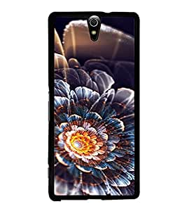 PrintVisa SONC5-Flower Design Metal Back Cover for Sony Xperia C5 Ultra Dual, Sony Xperia C5 E5553 E5506, Sony Xperia C5 Ultra