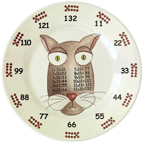 The Multiples Times Table Dinnerware Inspector Eleven 9 inch Melamine Plate - 1