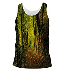 Snoogg Forest Way Mens Casual Beach Fitness Vests Tank Tops Sleeveless T shirts