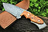 "DKC-85 TOMCAT Damascus Skinner Hunting Knife 9""Long 11.2oz High Class Looks Incredible Feels Great In Your Hand And Pocket Hand Made DKC Knives TM"