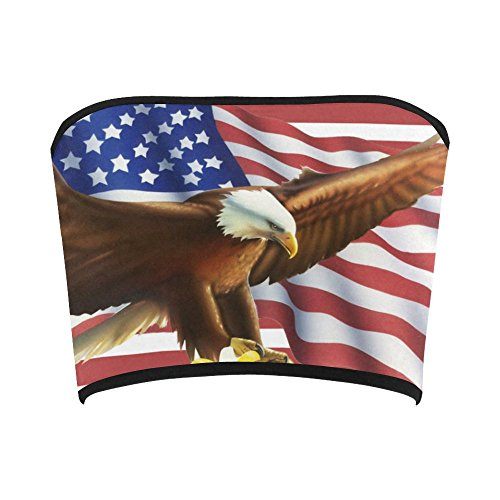 D-Story Custom Bandeau Tops American Flag and Eagle Bandeau Top Bra Tube Top (American Flag Bandeau Top compare prices)