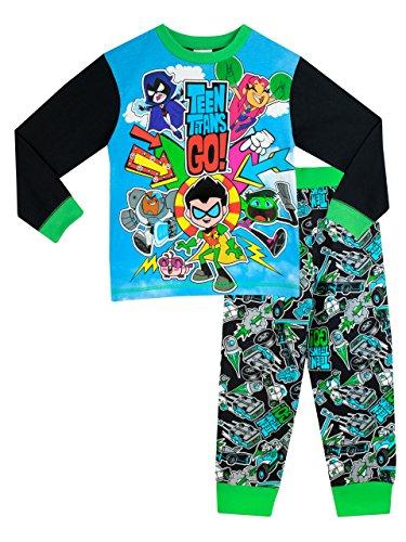 teen-titans-go-pigiama-a-maniche-lunga-per-ragazzi-di-teen-titans-go-6-a-7-anni