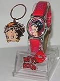Casual Betty Boop Biker Watch and Keychain