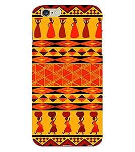 Fuson 3D Printed Tribal Pattern Designer Back Case Cover for Apple iPhone 6S Plus - D998