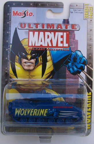 Maisto 1:64 Scale Blue Wolverine M3 Bradley CFV Tank Die Cast Car Ultimate Marvel - 1