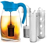 Flavor It 2.9 Qt Infusion Pitcher 3-in-1 Beverage System Blue