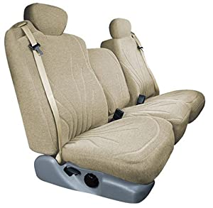 Elegant E H2316 Custom Made Bucket Seat Covers - Premier Tweed Fabric, Tan