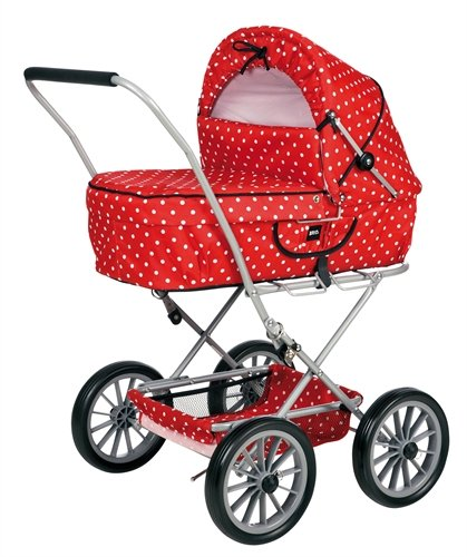 BRIO 90111 BRIO Doll Pram Gull Red with Dots