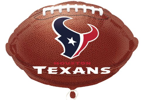 "Anagram International Houston Texans Flat Party Balloons, 18"", Multicolor - 1"