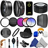 52MM Essentials Kit for NIKON DSLR (D5100 D5000 D3200 D3000 D90 D80) - Includes: 0.43x Wide Angle &amp; 2.2x Telephoto High Definition Lenses + IR Wireless Remote Control + Filter Kit (UV, CPL, FLD) + Macro Close-Up Set + Tulip Lens Hood + Center Pinch Lens Cap + 2 Color Filters + Lens Cleaning Pen + Flash Diffuser Set + Deluxe Cleaning Kit + MagicFiber Microfibers
