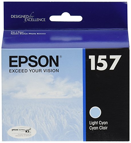 Epson UltraChrome K3 157 Inkjet Cartridge (Light Cyan) (T157520)