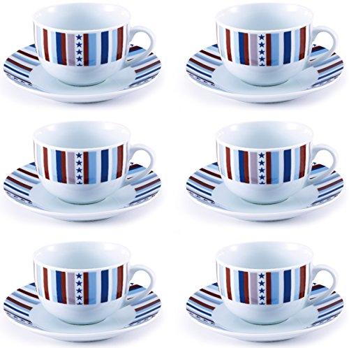 Renberg Starline - Tazze  da tè porcellana