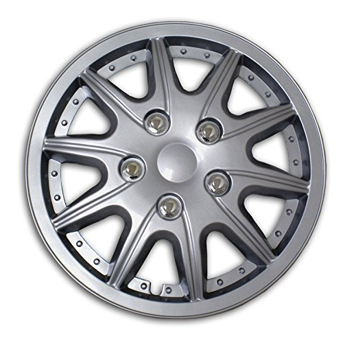 TuningPros WSC2-004S16 Hubcaps Wheel Skin Cover Type 2 16-Inches Silver Set of 4 (2004 Volkswagen Beetle Hubcap compare prices)