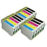 15 Moreinks Compatible Printer Ink Cartridges to replace Epson T0715 - Cyan, Magenta, Yellow, Blackby Moreinks