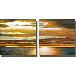 Reflections on the Sea I & II by Dan Werner 2-pc Premium Gallery Wrapped Canvas Giclee Art Set (Ready-to-Hang)