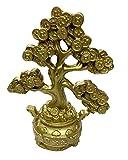Jaz Deals Feng Shui Chinese Bonsai Golden Money Coin Tree (Polyresin)