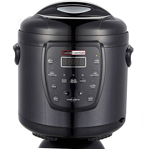 Cucina Essentials 6-in-1 Electric 6 Quart Multi-Functional Pressure Cooker (Kevin Dundon Steamer compare prices)