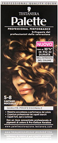 Testanera - Palette, Crema Colorante, 5-8 Castano Nocciola - 1 confezione