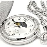 [モントレスコレクション]Montres Collection 懐中時計 サン アンド ムーン ポケットウォッチ シルバー アラビア数字 MC-900W/A