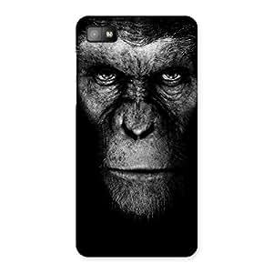 Cute Chimp King Black Back Case Cover for Blackberry Z10