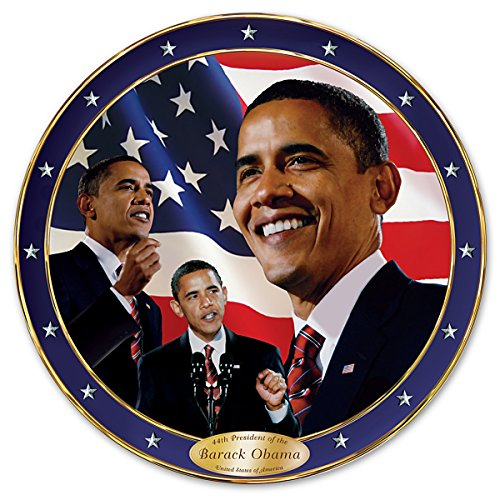 Yes We Can Barack Obama Commemorative Collector Plate by The Bradford Exchange