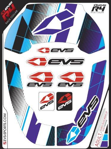 EVS Sports  R4 Graphic Kit (Crossfade Purple, Adult)