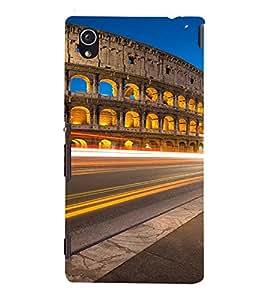 PrintVisa Travel Colosseum Rome Design 3D Hard Polycarbonate Designer Back Case Cover for Sony Xperia M4 Aqua