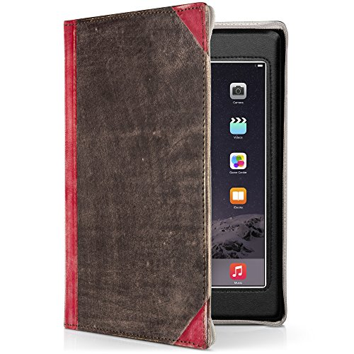 Twelve South BookBook Cover for iPad mini, red | Vintage leather 3-in-1 case for 1st, 2nd, 3rd gen iPad mini