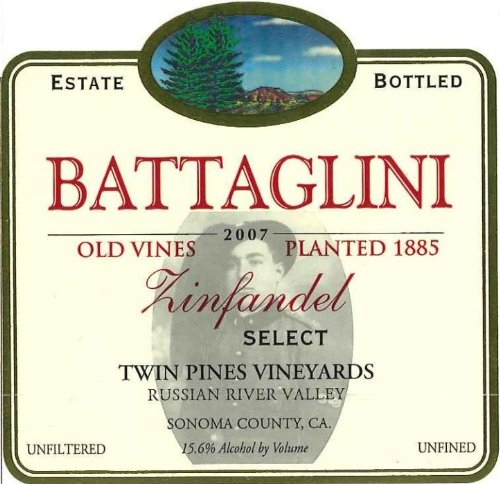 2007 Battaglini Zinfandel Select 750 Ml