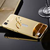Aart Luxury Metal Bumper + Acrylic Mirror Back Cover Case for Vivo V1 Max By Aart Store + OTG Cable and Data cable for all Smart phones, Tablets, PC, LapTop by Aart Store.