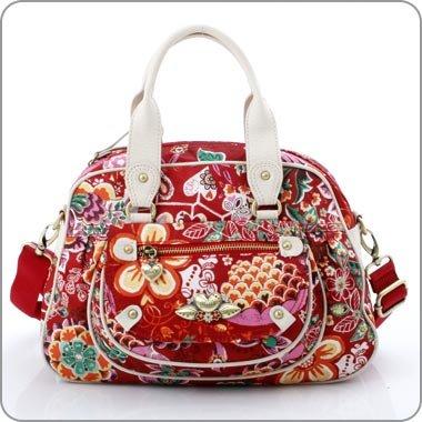 Oilily Tasche Sommerblüten - Handtasche rot - Cherry OL392CY