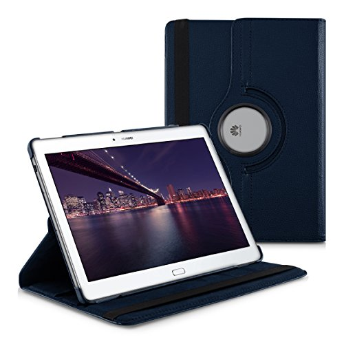 kwmobile Case 360° for Huawei MediaPad M2 10.0 Case with stand - protective tablet cover with standing function in dark...