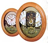 Timecracker Golden Oak II by Rhythm Clocks