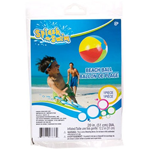 "Splash-n-swim Multicolor Beach Balls, 20"" 1pc - 1"