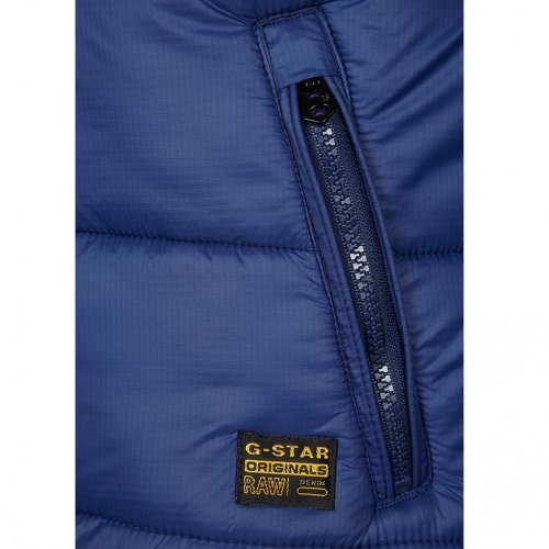 g star raw mens whistler padded hooded bomber jacket coat in swedish blue xxl jonathan. Black Bedroom Furniture Sets. Home Design Ideas