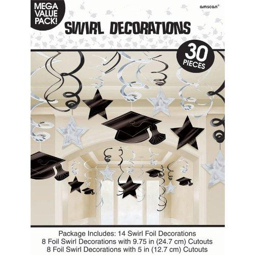Congrats Grad Silver Graduation Hanging