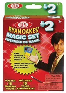 POOF-Slinky - Ideal Ryan Oakes 15-Trick Magic Set #2 with Crayon Box and Rabbit Rings, 0C1152