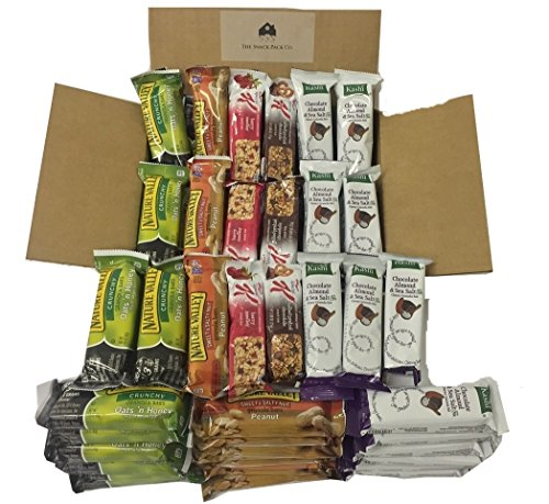 Healthy Sweet & Salty Snack Bar Bundle Box of 50 (Kashi, Nature Valley, Kellogg's)