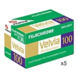 Fujifilm Fujichrome Velvia 100 Color Slide Film ISO 100, 35mm, 5 Rolls of 36 Exposures [並行輸入品]