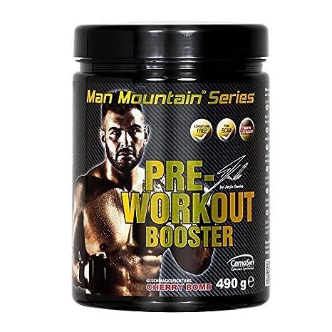 Man Mountain ® Series | Pre Workout Booster 490g | Aminosäuren | L-Arginin | Carnosyn Beta Alanin | Alanin | BCAA | Emblic Myrobalan | Koffein ( Cherry Bomb )