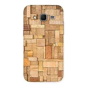 Impressive Wood Blocks Pattern Back Case Cover for Galaxy Core Prime