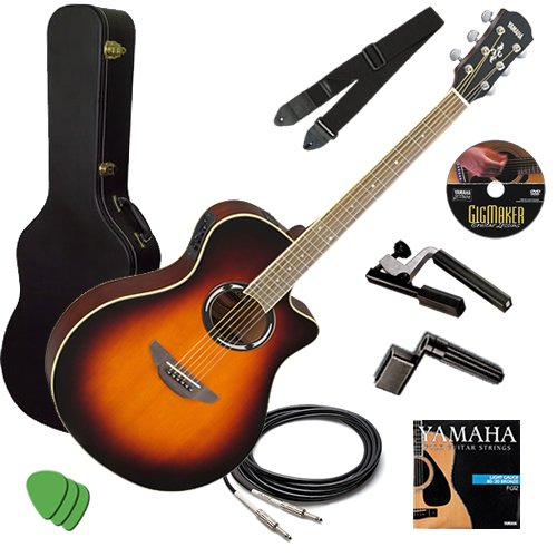 Yamaha APX500II Sunburst Guitar STAGE BUNDLE w/ Hard Case, C