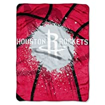 NBA Houston Rockets Shadow Play Royal Plush Raschel Throw Blanket, 60x80-Inch