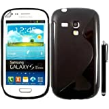 SAMSUNG GALAXY S3 MINI I8190 SILICONE SILIKON CASE SKIN GEL TPU H�lle COVER + STYLUS BY GSDSTYLEYOURMOBILE {TM}